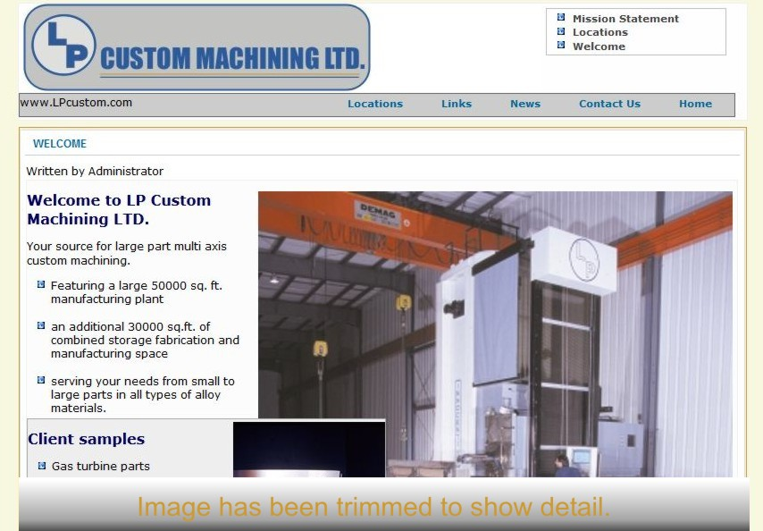A thumbnail image of LP Custom Machining.